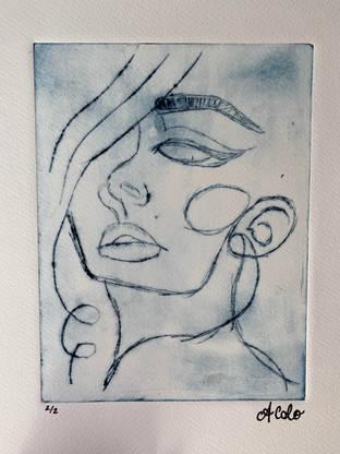 Woman Face Print
