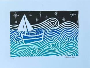Wanderlust Sailboat Print