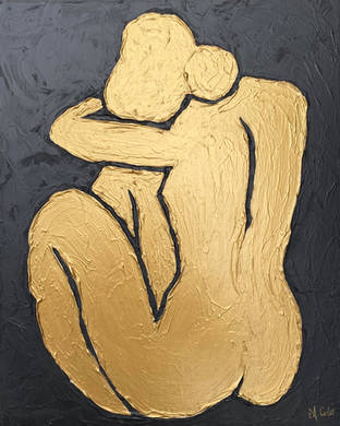 Picasso's Lady in Gold & Black