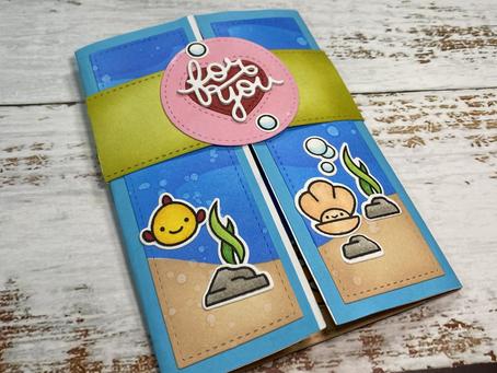 Ocean Shell-fie Shutter Card