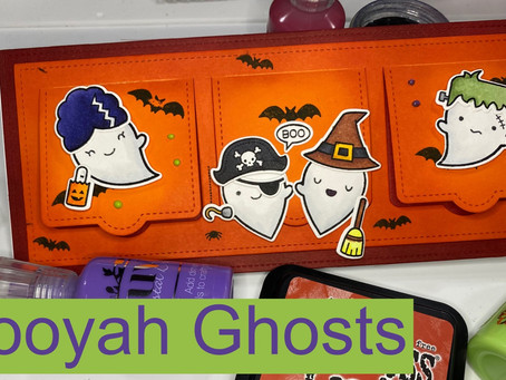 Lawn Fawn Halloween Card Series #2: Booyah Ghosts