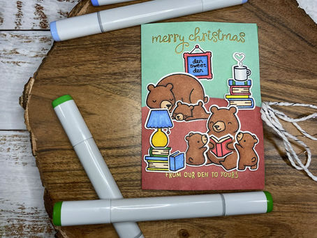 HOLIDAY CARD SERIES w/ Lawn Fawn: Beary Christmas Tales