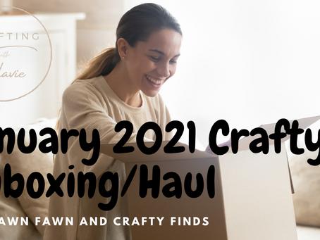January 2021 Unboxing/Craft Haul