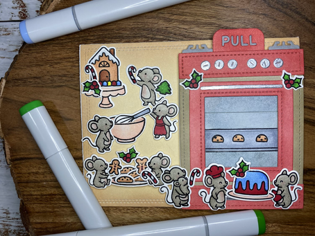 HOLIDAY CARD SERIES w/ Lawn Fawn: The Mice are Baking