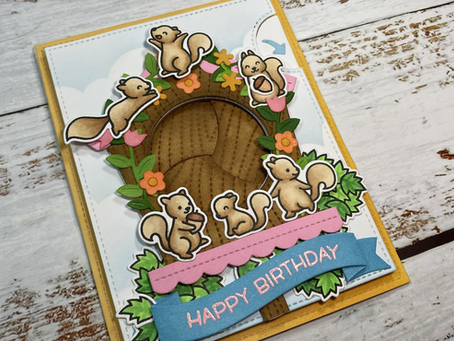 Let's Go Nuts for a Birdhouse Magic Iris Card