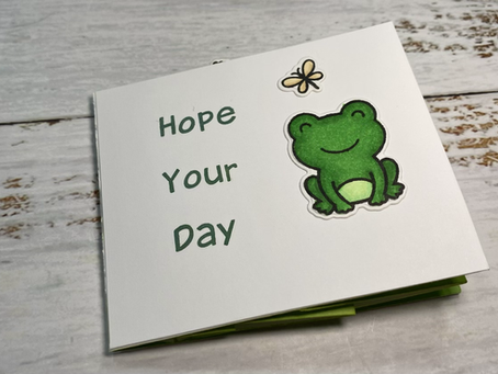 Toadally Awesome Center Picture Window Card