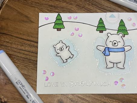 HOLIDAY CARD SERIES w/ Lawn Fawn: Snow Much Fun