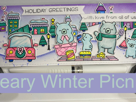 HOLIDAY CARD SERIES w/ Lawn Fawn: Winter Bear Picnic