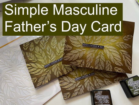 Simple Masculine Father's Day Card