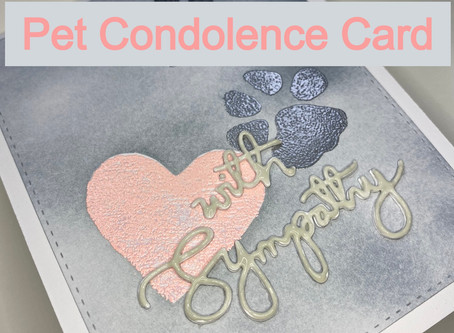 Pet Loss Condolence Card