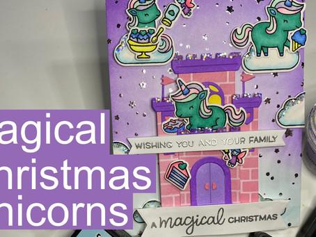 HOLIDAY CARD SERIES w/ Lawn Fawn: Christmas Unicorns