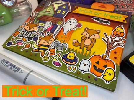 Lawn Fawn Halloween Card Series #1: Trick or Treat