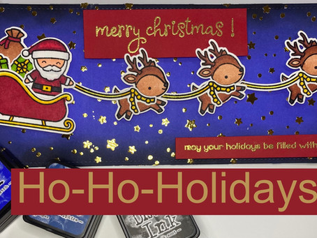 HOLIDAY CARD SERIES w/ Lawn Fawn: Ho-Ho-Holidays