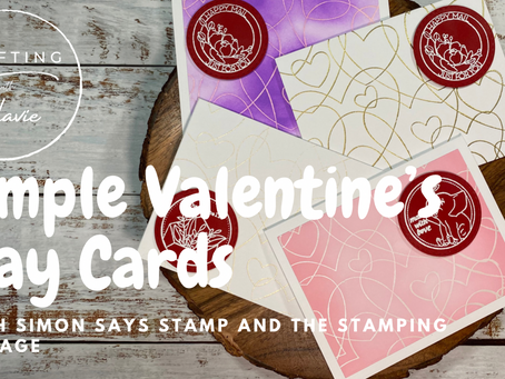 Simple Valentine's Day Cards w/ Simon Says Stamp and the Stamping Village