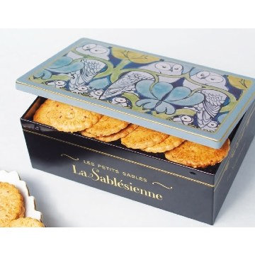 La Sablesienne Owl Tin (Sable Biscuits) 250g