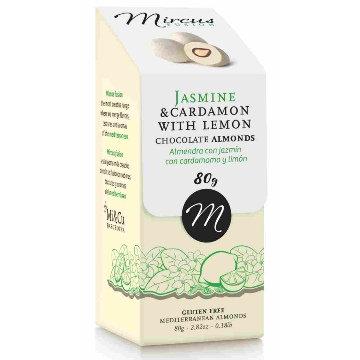 Mi Cu Jasmine and Cardamon w. Lemon Chocolates 80g