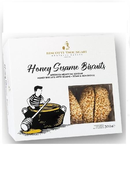Biscotti Tsoungari-Honey-Sesame-Biscuits