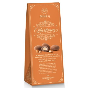 Mi Cu Marlonas Caramel Chocolate Coated Almonds 80g Ballotin