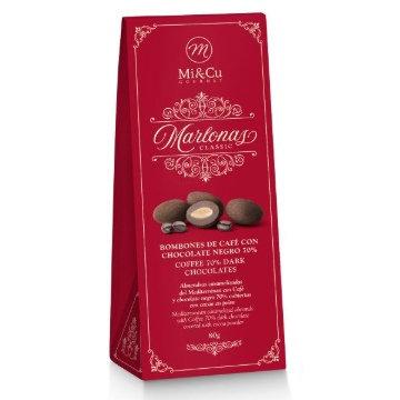 Mi Cu Marlonas Coffee Chocolate Coated Almonds 80g Ballotin