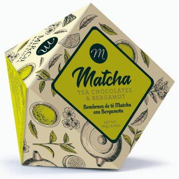 Mi Cu Matcha Tea and Bergamot Chocolates 60g