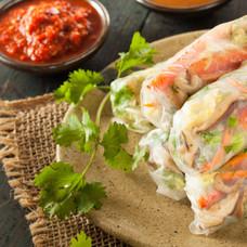 Chicken rice paper rolls homemade