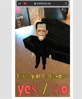A creepy, interactive AR experience