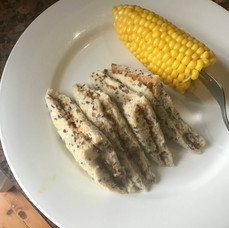 Vegemite sambo with corn