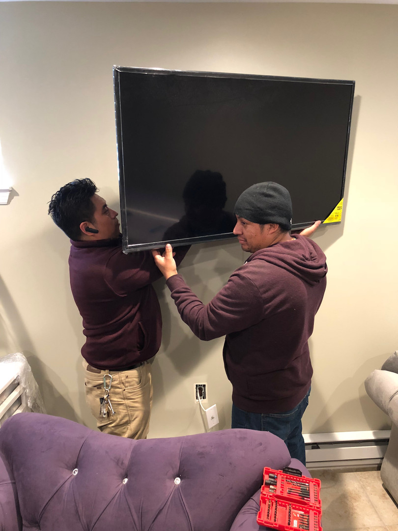 We can hang your TV's in your new place!
