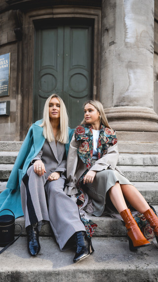 Olivia and Alice for LFW