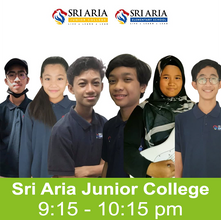 6 Life Lessons from us at Sri Aria Junior College to you