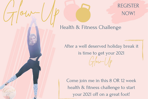 GlowUp Health & Fitness Challenge - Online