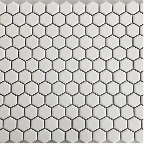 Hexagon White Mosaic