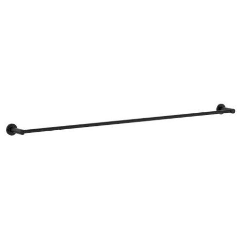 Single Towel Rail Matt Black 900mm