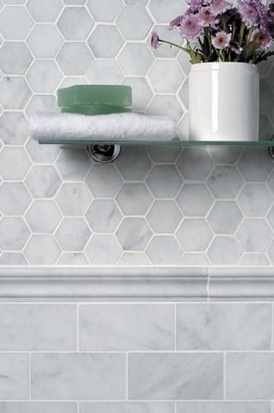 Cararra Hexagon Marble