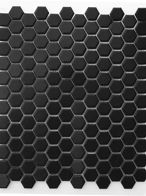 Hexagon Black Mosaic