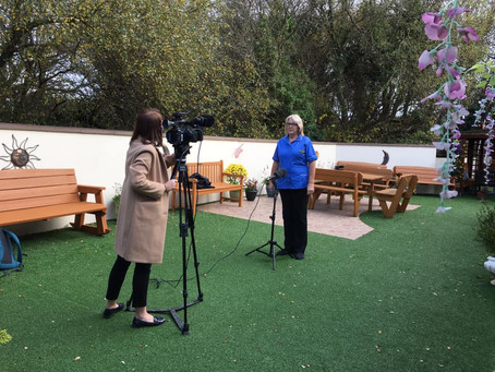 ITV Wales News film our robot companion therapy pets at a care home