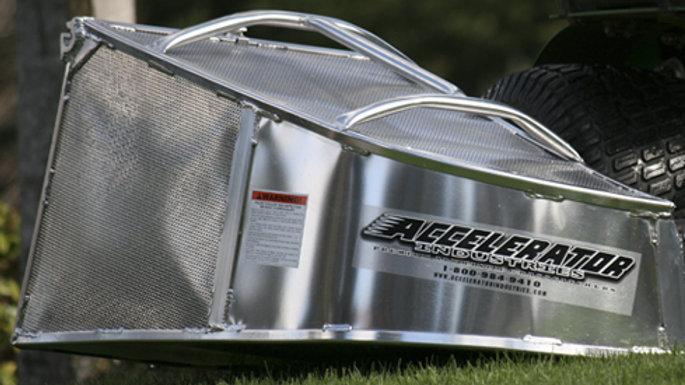 Accelerator aluminum bagger fits all spartan mowers