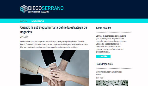 Blogs y Foros website templates – Blog de estrategia de negocios