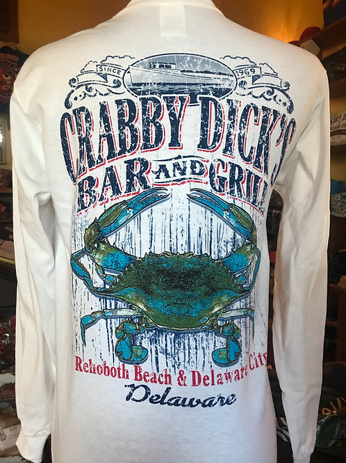 Crabby Dick's Bar and Grill Long Sleeve T-shirt