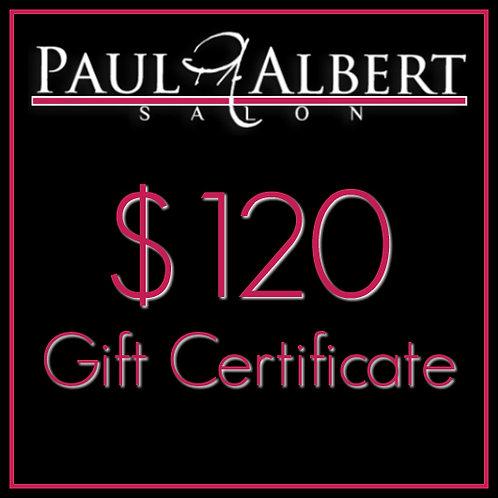 $120 Gift Card