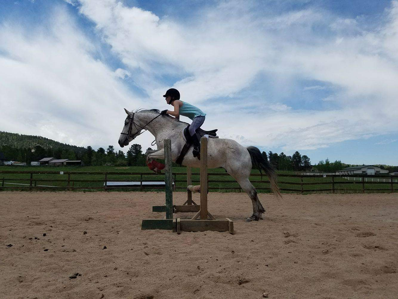 One of Brittnee's students practicing jumping