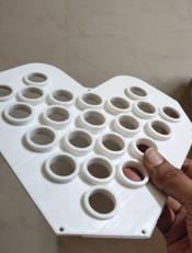 PLA 3D printed bulb holder