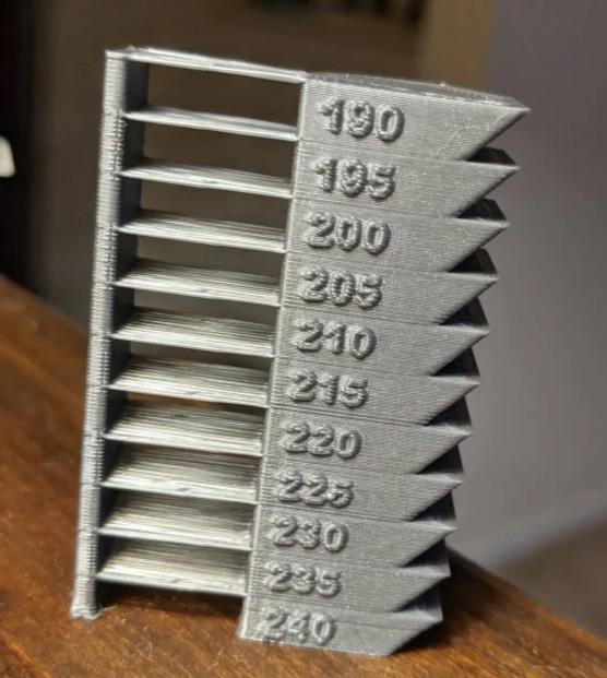 Filament temperature setting