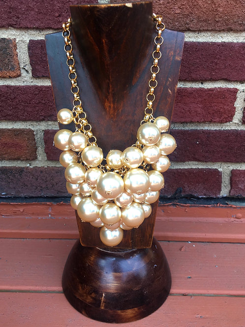 Gold & Pearl Cluster