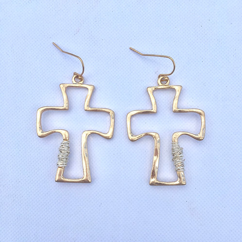 Golden Cross & Wrapped Silver