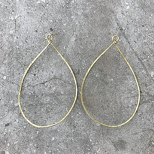 Midi BRASS TWISTS HOOPS!