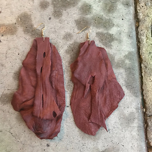 Cheyenne Textured Leather Earrings