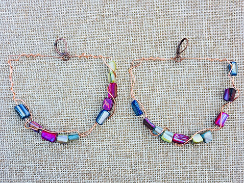 Rainbow Beaded Boat Hoop