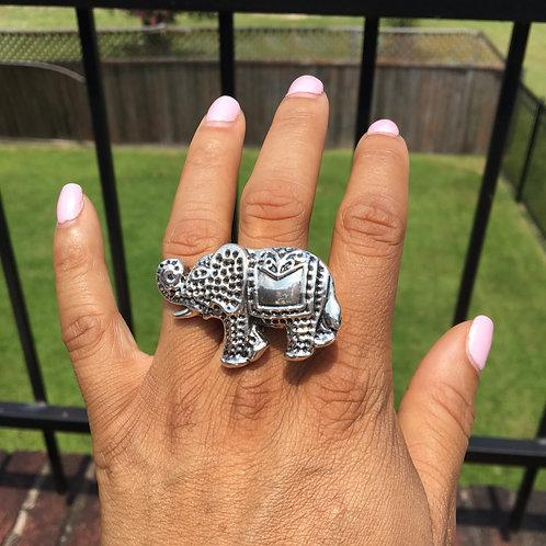 Large Sterling Elephant