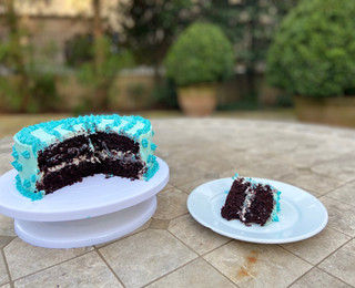 Chocolate Cake with a Cream Cheese Frosting filling
